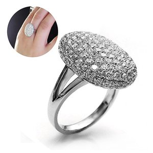 GETNOIVAS Silver Color Breaking Dawn Bella Engagement Wedding Ring Gorgeous Rhinestone Inlay Women Rings Jewelry SL
