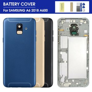 For SAMSUNG Galaxy A6 A600F SM-A600FN DS A600 2018 Back Battery Cover Middle frame Full Housing + Sticker