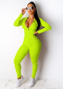 Hooded Solid Color Womens Tracksuits Spring Autumn Long Sleeve Fitness Running 2pcs Skinny Sexy Women Clothing