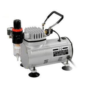 Электроинструменты Опрыскивание Spray Mini воздушный компрессор Профессиональный гравитационной подачи двойного действия аэрографа Поршневой воздушный компрессор