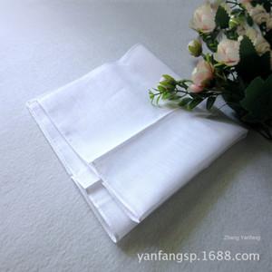 q5Lef Men's pure cotton white handkerchief 28cm cotton pure white scarf painting tie-dyed printing Diy square towel handkerchief square towe