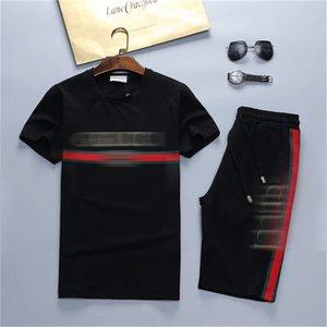 Mens Designers Tracksuirt Correndo Treino Casacos e calças esporte camisola Casual Outono Men Short T-shirt e calções gola