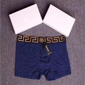 مع صندوق مصمم فيرساتشي الملاكم موجز ManUnder الملابس الداخلية مثير ملابس داخلية رجالي الملاكمين القطن الملابس الداخلية سراويل نمط ذكر rehe retgwrgwr
