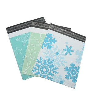 Starfish snowflake pattern Plastic Post Mail Bags Poly Mailer Self Sealing Mailer Packaging Envelope Courier express bag wholesale