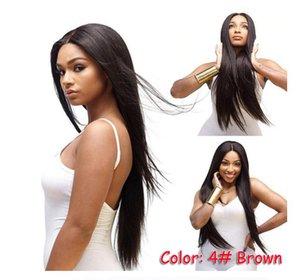 mitad de la longitud del pelo recto de las pelucas de las mujeres americanas Europea de África pelucas de pelo largo casco de fibra química peluca al por mayor de Internet gratis
