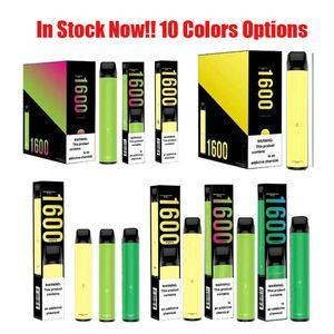 PUFF XXL 1600 Puffs Acessos dispositivo descartável Vape caneta pré-cheia vapores e Cigs Cigarros portátil Sistema Starter Kit vaporizadores Bar