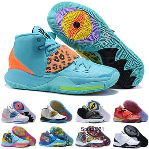 İl Kyrie 6 Basketbol Ayakkabı Öncesi Isı VI LA NY Scarab NakeskinÜrdünRetros Manila Dünya Muhteşem mor Çocuk Erkek Kadın Sneakers