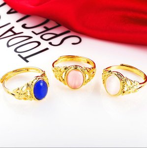 Factory direct selling pure copper Euro gold jewelry Opal Ring women open an appointment to send girlfriend mother birthday gift