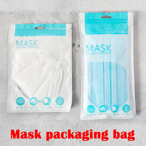 Sacos de OPP Bolsas de embalagem de varejo de zíper para descartáveis saco de máscara de rosto protetora saco de poeira de poeira Anti bactérias máscaras sacos DHL grátis
