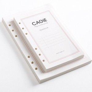 Оптово Стандартный A5 A6 6 отверстий Перекидного ноутбук Refill бумага Замена Внутри внутренней страница Spiral Filler материалы для ноутбуков Di Tepl #