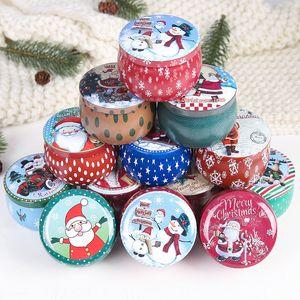 Caixa de armazenamento presente de Natal flandres doce pode Merry Christmas Biscuit Jar Big Belly Can casamento Xmas dos doces Caixa de armazenamento