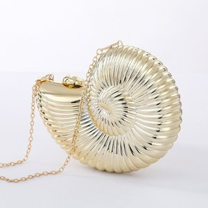 Gold Sliver Fashion Evening Clutch Women Chain Sling Shell Bags Party Wedding Crossbody Bags For Women Small Cute Purse Clutches