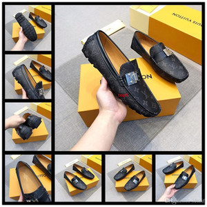 Fashion Mens Office Dress Dhoes Genuine Leather Breathable Italian Designer Men Work Shoes Flats Suit for Party Size 38-45