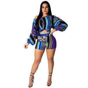 Fashion Womens Two Piece Sets New Arrival Women Tees+ Shorts Suits Casual Hot Womens Club Sexy Sets 5 Colors Size S-3XL PH-YF203125