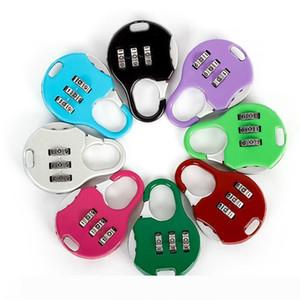 Color Mini Padlock For Backpack Suitcase Stationery Password Lock Student Children Outdoor Travel GYM Locker Security Metal Cartoon Padlock