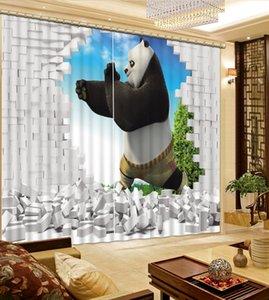 chinese cortinas da janela cortinas opacas personalização para sala de estar luxuosa parede Elephant quebrado moderno cortina 3d