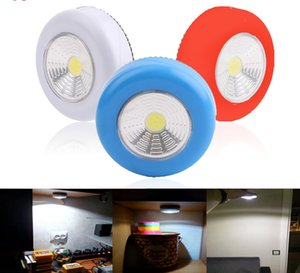 COB Touch Light Round LED Under Cabinet Wall Lamp Wardrobe Cupboard Closet Emergency Kitchen Night Light For Home
