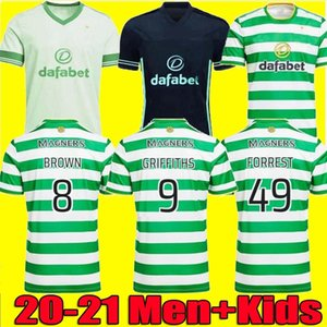 TAMAÑO 16-4XL 20 21 camisetas de fútbol Celtic 2020 2021 Inicio de distancia MCGREGOR GRIFFITHS camiseta de fútbol Celtic FC maillot de pie