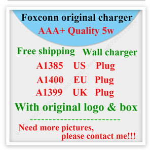 100pcs OEM Quality 5V 1A 5W US EU AU Plug adaptor USB AC Power Charger Wall Adapter A1385 A1400 With retail box