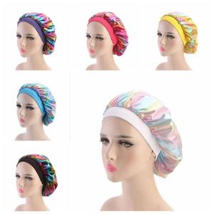 Lazer Cap Geniş Stretch Nefes Bandana Gece Turban Şapka Headwrap Bonnet Kemo Cap Saç Aksesuarları Parti BWC765 Malzemeleri Sleeping