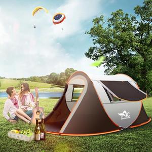 Палатки и укрытия Наружная большая палатка для кемпинга, полный автоматический мгновенный развернутый водонепроницаемый семейный многофункциональный портативный портативный