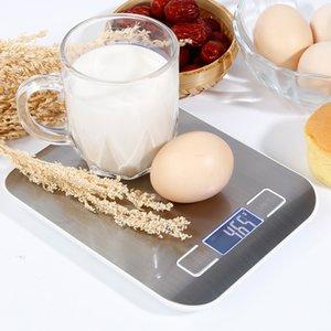 5kg / 1G Domésticos de Cocina Escala electrónica Alimentación Escalas dieta herramienta de medición delgado LCD digital de pesaje electrónico escala mayorista
