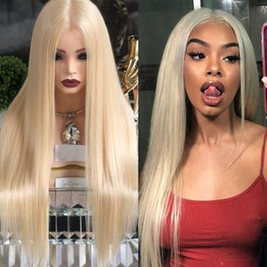 Pre Plucked 360 Lace Frontal Human Hair Wigs with Baby Hair 613 Blonde Glueless Full Lace Wigs Virgin Natural Hairline