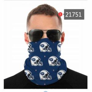 Futebol Designer Seamless Bandana para Rave Rosto máscara de pó Vento UV Sun Neck Gaiter Tubo Headwear Motocicleta Ciclismo Equitação Correndo Headbands