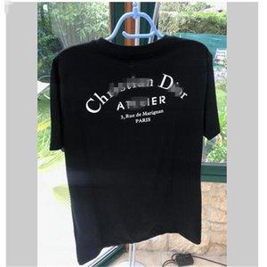 2020 Mens T Shirt Designer Dior Uomini Donne Coppie casuale manica corta girocollo Mens Tees 5 colori S-2XL