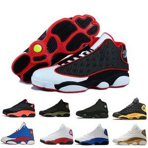 2020 Новые прибытия NakeskinИордания 13 13s Мужчины ретро Баскетбол обувь класса Aj 1 бароны DMP Белые тапки Роскошные дизайнерские