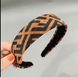 2020 Designerheadband Kadife Kadınlar BrandHeadbands Moda Lüks Kızlar Saç Bantları Eşarp Saç Aksesuarları Hediyeler FF Headwraps zx 2020528K