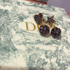 D family Dijia five-pointed star Love earrings 2019 new Seiko version High quality old earrings