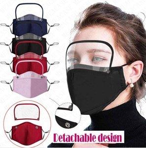 Tomada de respiro válvula Cotton Homens Mulheres rosto cheio máscaras com filtros contra pó respirabilidade destacável Fa