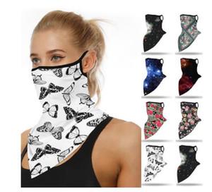 40 # Açık Bandana Yüz Baskı Maskeler Sorunsuz Kulak toz geçirmez Spor Eşarp Boyun Tüp Yüz Toz Binme Bisiklet