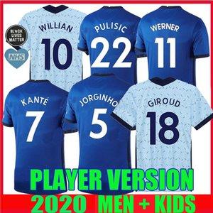 player version 20 21 PULISIC SOCCER JERSEYS KOVACIC WILLIAN JORGINHO GIROUD KANTE werner 2020 2021 MOUNT HOME AWAY FOOTBALL SHIRTS thailand