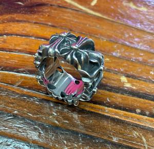 aço inoxidável estilo biker alta qualidade Homens Retro Chrome Hearts Anel Moda Cruz Punk Jóias presente Ring
