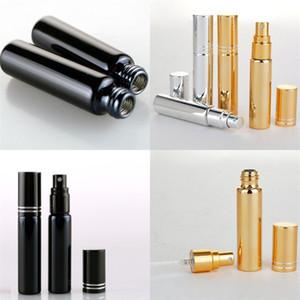 10ml Vetro Black Gold flacone spray bottiglie d'acqua Replenish Piccolo bagagli contenitori separati imbottigliamenti facile da usare 1 65yr E2