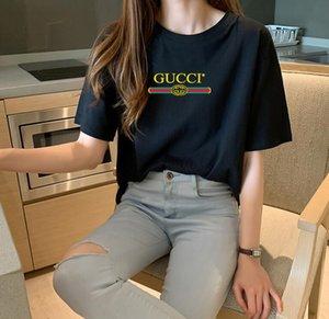 20SS Mens конструктора T Shirt Мода Париж Мужчины Женщины Пары Повседневная футболка Черный Белый Стилист рубашки Размер S-XXXXL