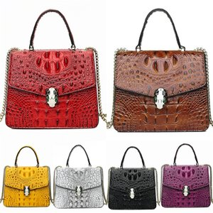 30Pcs Women PU Red Tower Printing Flap Large Capaicty Hasp Cross Body Chain Bag Mix Color#775