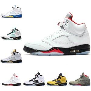 Las nuevas 2020 13 2020 Flint 5 5S Rojo Fuego plata lengüeta 11 11S atasco del espacio bajo blancos 4s Bred Gato Negro Bred los zapatos de baloncesto de la zapatilla de deporte al por mayor