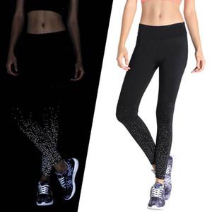 Yoga Outfits Women Fitness Pants Fashionable Reflective Night Running Sports High Waist Elastic Sport Leggings Pant NVYJ57