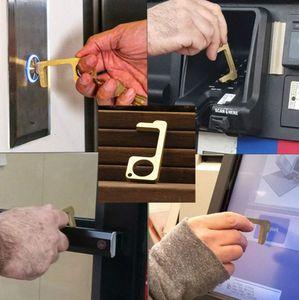 Handmade-Tür-Öffner Schlüsselanhänger Türgriff Artifact Schlüsselanhänger vermeiden, berühren Key Buckle Sauber Key