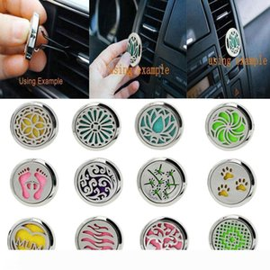 Car Perfume Clip Home Essential Oil Diffuser For Car Locket Clip Stainless Steel Car Air Freshener Conditioning Vent Clip 30mm wholesale