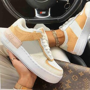 New Low WMNS Designer Cream Women air Girls Candy Macaron Running Shoes 1 Shadow Tropical Twist Sport one Skateboard forces Sneakers