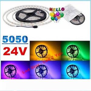 24V Led Strips Light Flexible Tape Lights 60LEDs m 5M 300LEDs SMD 5050 RGB Led Rope Lights 5M Reel Waterproof