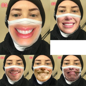 progettista faccia Maschera Maschera rosso sorriso uomini espressioni facciali divertenti maschere commercio estero transfrontaliera partito alla polvere maschere di cotone stampato