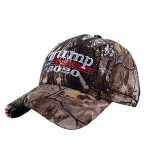 Donald Trump Hat Make America Great Encore une fois broderie USA Drapeau Réélection coton Casquette de baseball de camouflage extérieur Chapeaux LJJO8237