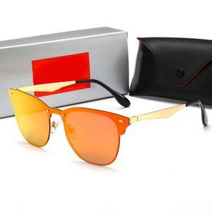 Sperren Ban neuen Ray Marke polarisierte Sonnenbrille Männer Frauen Pilot UV400 Eyewear 3576 Brille Wayfarer Metallrahmen Objektiv polarisierten Sonnenbrillen vpqW #