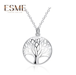 Round Hollow ing tree pendant Tree of Life necklace jewelry