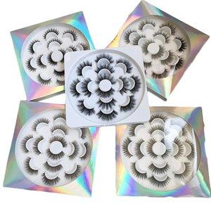 속눈썹 꽃 트레이 자연 긴 속눈썹에 5D 가짜 밍크 속눈썹 제 7 쌍
